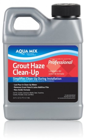 how to clean tile haze residue